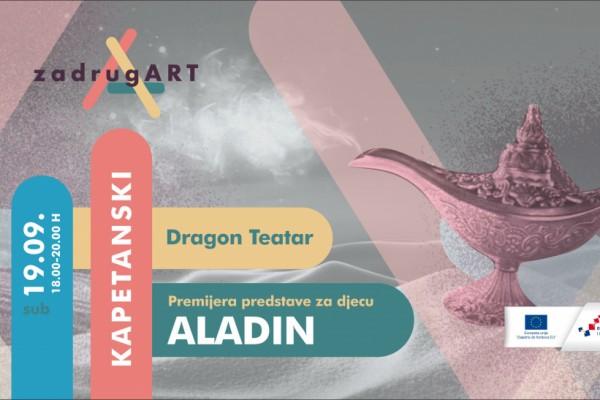 Dragon Teatar iz Zadra s ponosom najavljuje premijeru predstave ALADIN